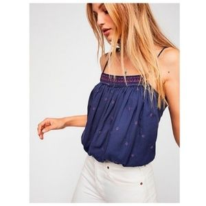NWT Free People Embroidered Crop Top Size L